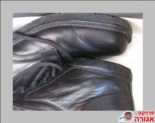 3 זוגות נעלי דמוי עור שחורות
