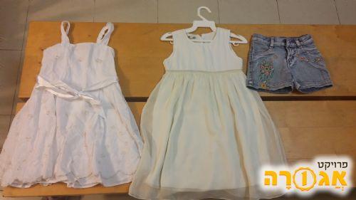 שמלות וג'ינס קצר מידה 4 + 6