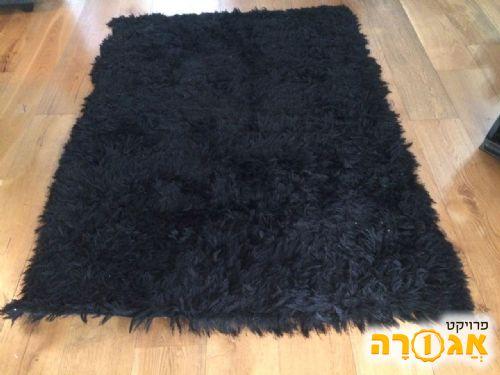 3 שטיחי shaggy שחורים