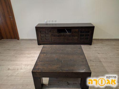 מזנון טלויזיה + שולחן סלון