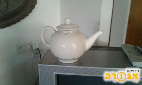 קנקן חרסינה לתה