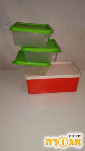 4 קופסת אחסון פלסטיק קטנות למזון
