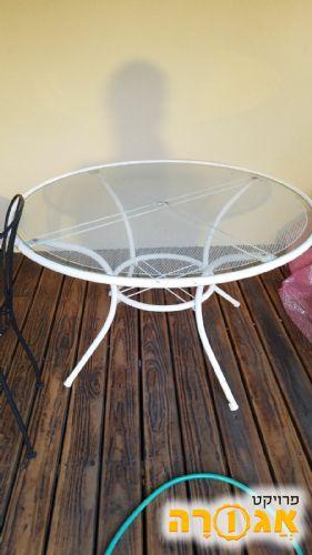 שולחן גינה עגול