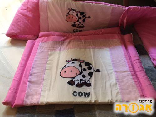 סט מגן ראש למיטת תינוק ומשטח החתלה