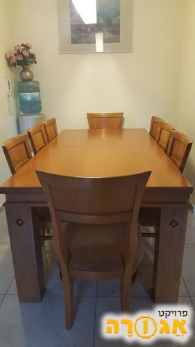 שולחן פינת אוכל+8 כיסאות
