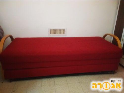 מיטת נוער נפתחת, עם ארגז מצעים