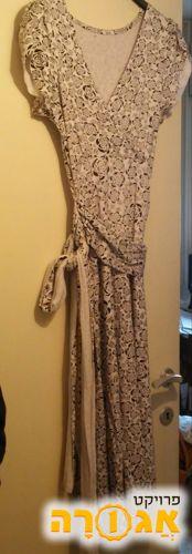 שמלה קייצית בלבן ושחור מידה 38-40