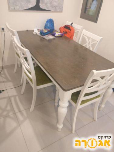 שולחן פינת אוכל+5 כסאות