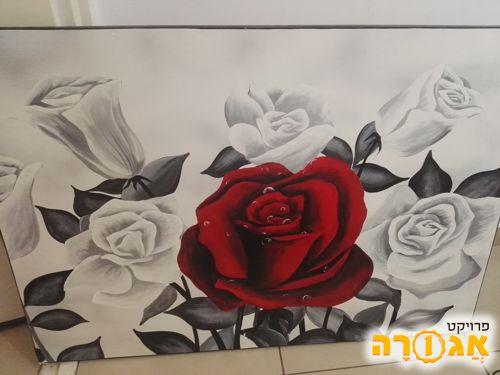 תמונה של פרח אדום