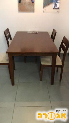 שולחן אוכל עם 4 כיסאות