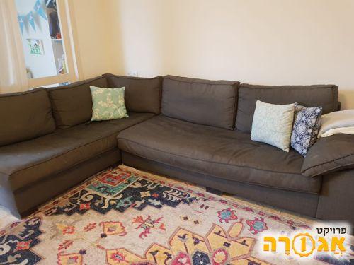 ספה פינתית גודל 2 מטר על 3.05