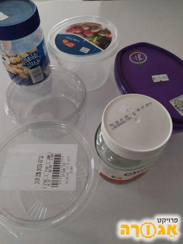 קופסאות פלסטיק וצנצנות