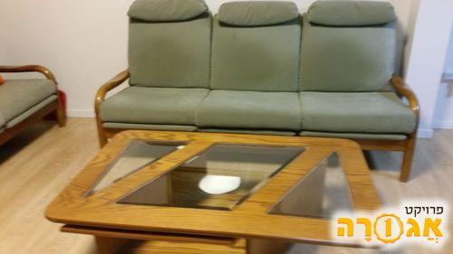 ריהוט סלון קומפלט 3+2+1 ושולחן