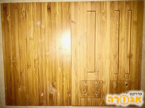 לוחות עץ עם חריצים