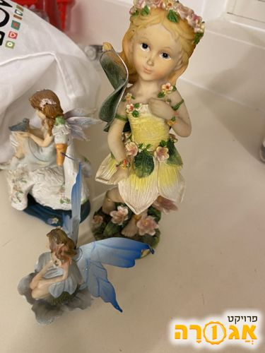 פסלוני בובות לחדר של ילדה