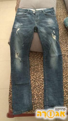 ג'ינס קרעים - חדש - 31