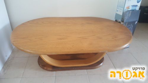 שולחן עץ נמוך לסלון