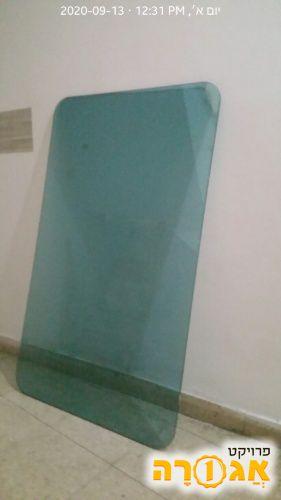 פלטת זכוכית לשולחן - צבע ירוק