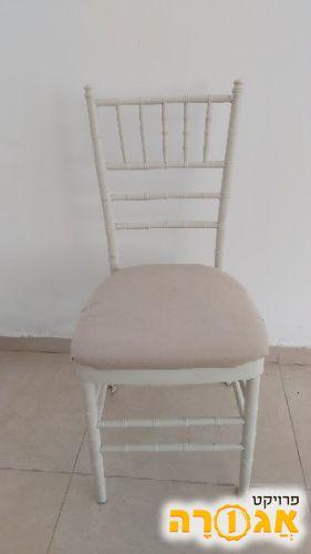 כסא מתכת עם ריפוד