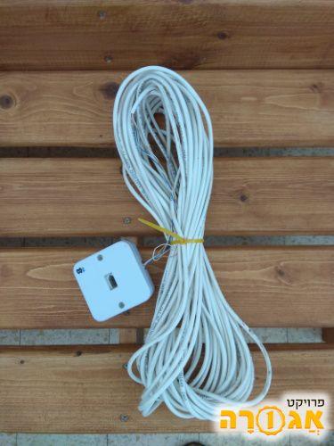 כבל תקשורת rj11 - 20 מטר