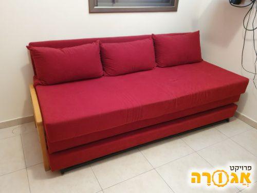 מיטת יחיד עם ארגז מצעים ומיטה נפתחת