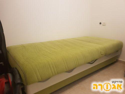 מיטת יחיד מתכווננת עם ארגז והרחבה