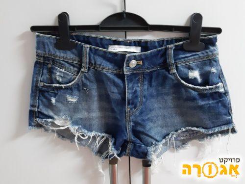 מכנסי ג'ינס קצרים - כחדשים