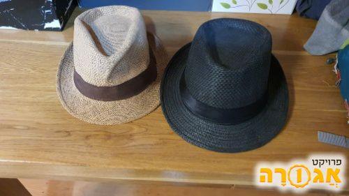 2 כובעים - שחור וחום