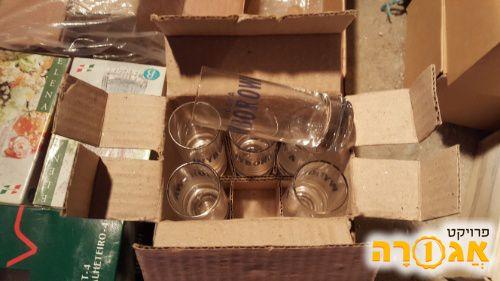 6 כוסות שוטים vodka wyborowa