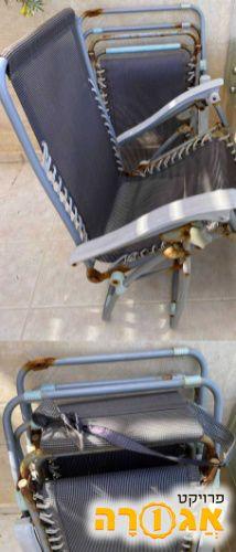 זוג כיסאות נוח מתקפלים