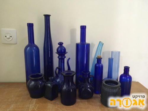צנצנות ובקבוקים כחולים