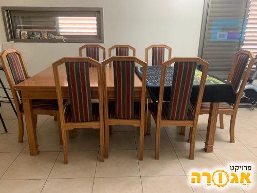 שולחן פינת אוכל + 8 כסאות