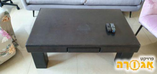 שולחן מלבני שחור לסלון