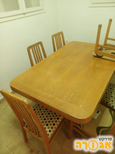 פינת אוכל שולחן נפתח ו6 כיסאות